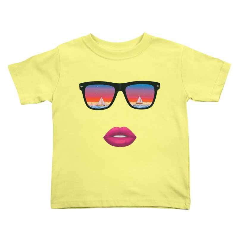 Sailing Dreams Kids Toddler T-Shirt by Glitchway Store