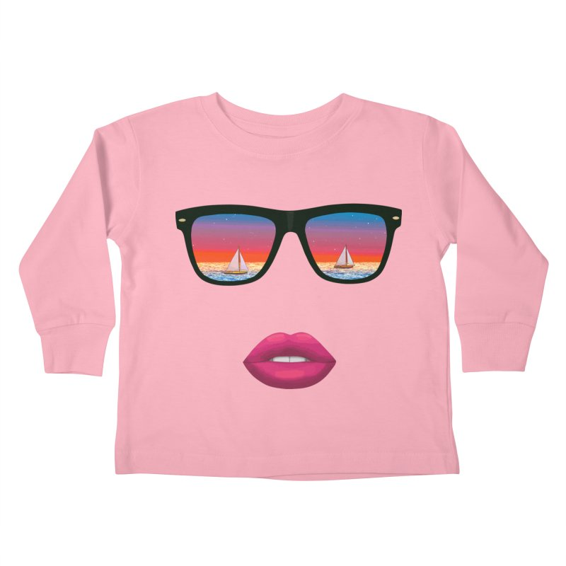 Sailing Dreams Kids Toddler Longsleeve T-Shirt by Glitchway Store