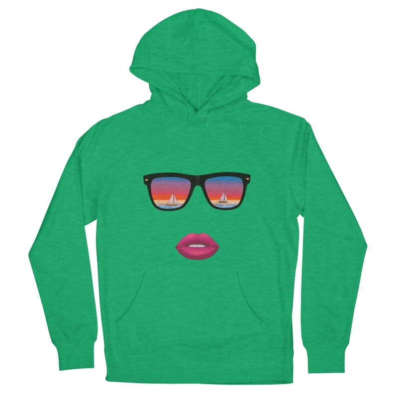 Sailing Dreams Women's French Terry Pullover Hoody by The Glitchway