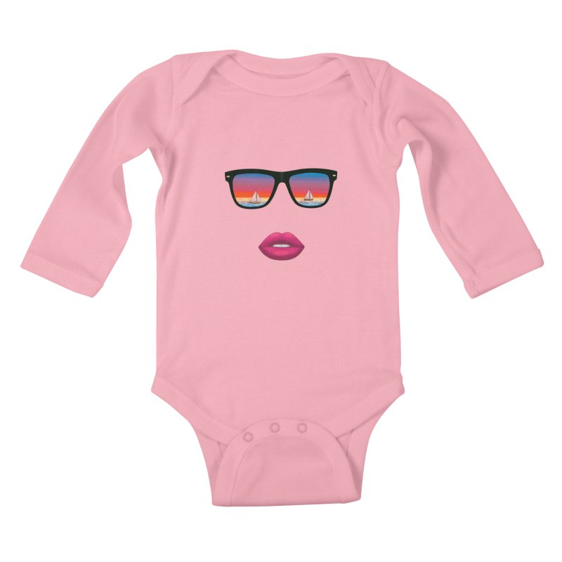 Sailing Dreams Kids Baby Longsleeve Bodysuit by Glitchway Store