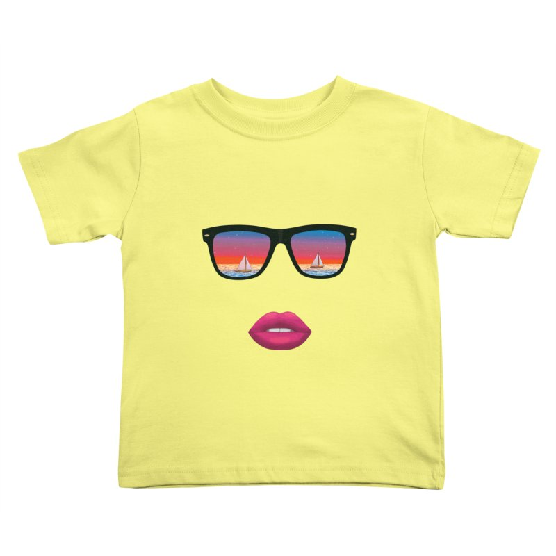 Sailing Dreams Kids Toddler T-Shirt by The Glitchway