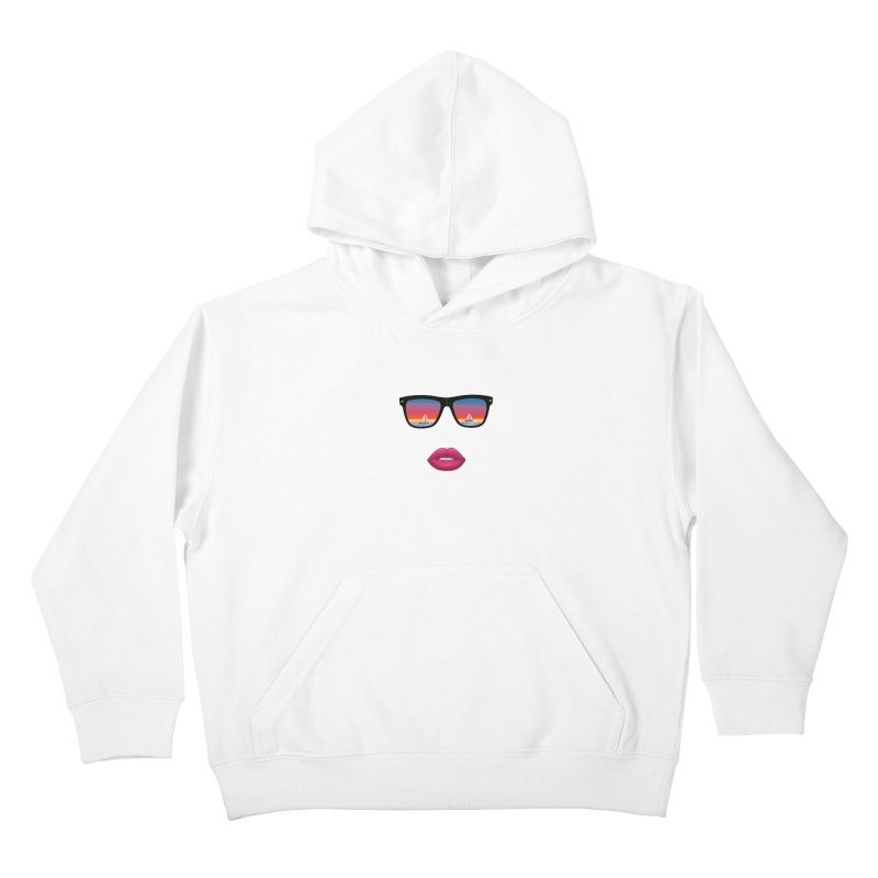 Sailing Dreams Kids Pullover Hoody by The Glitchway