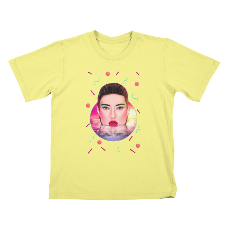 Summer Pool Kids T-shirt by Glitchway Store