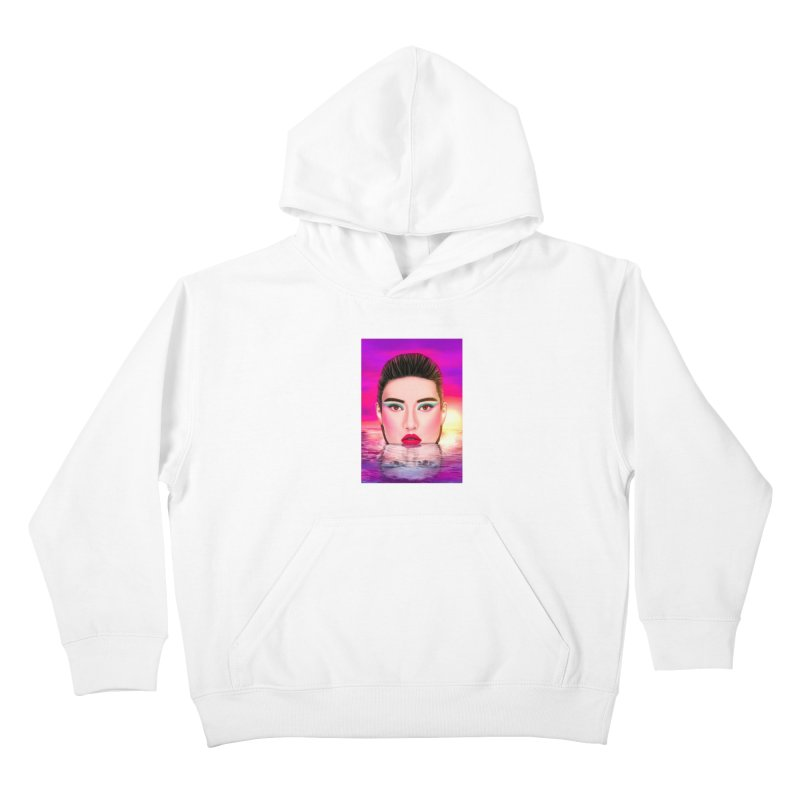 Summer Pool Kids Pullover Hoody by Glitchway Store