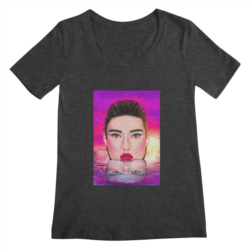 Summer Pool Women's Scoopneck by Glitchway Store