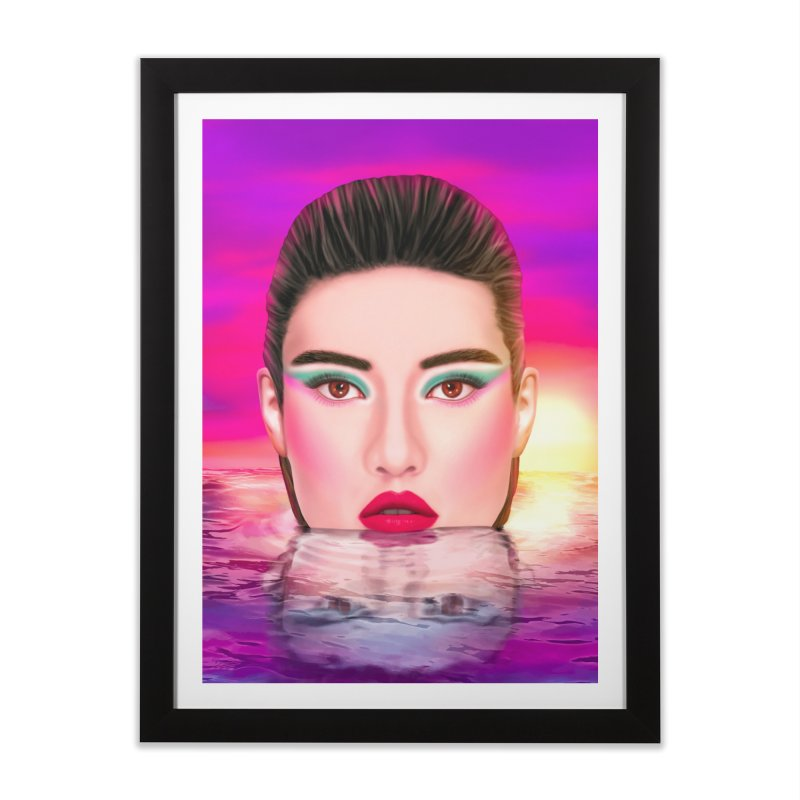 Summer Pool Home Framed Fine Art Print by Glitchway Store