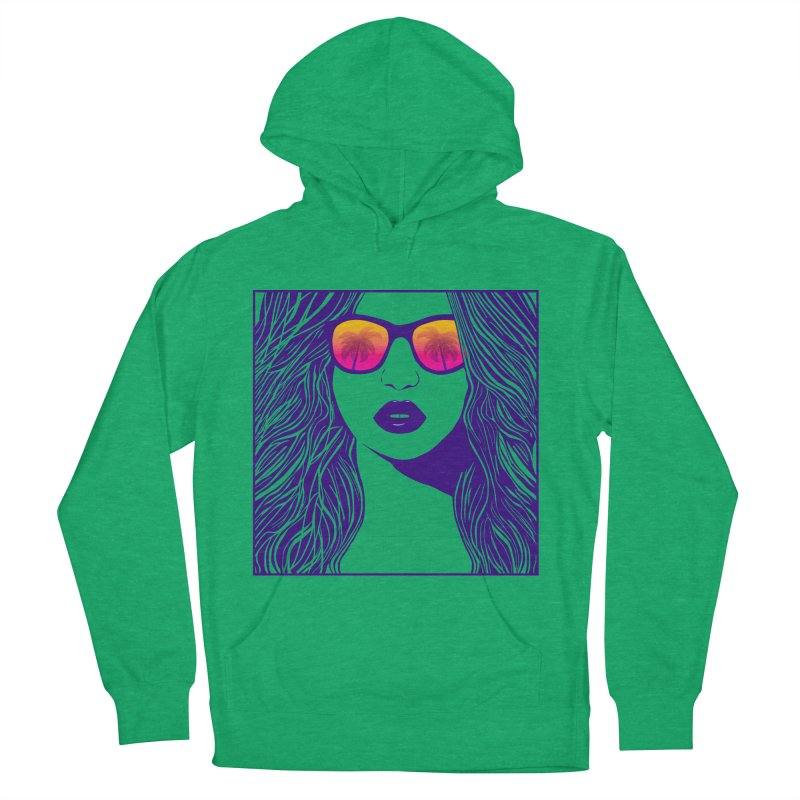 Summertime Women's Pullover Hoody by Glitchway Store