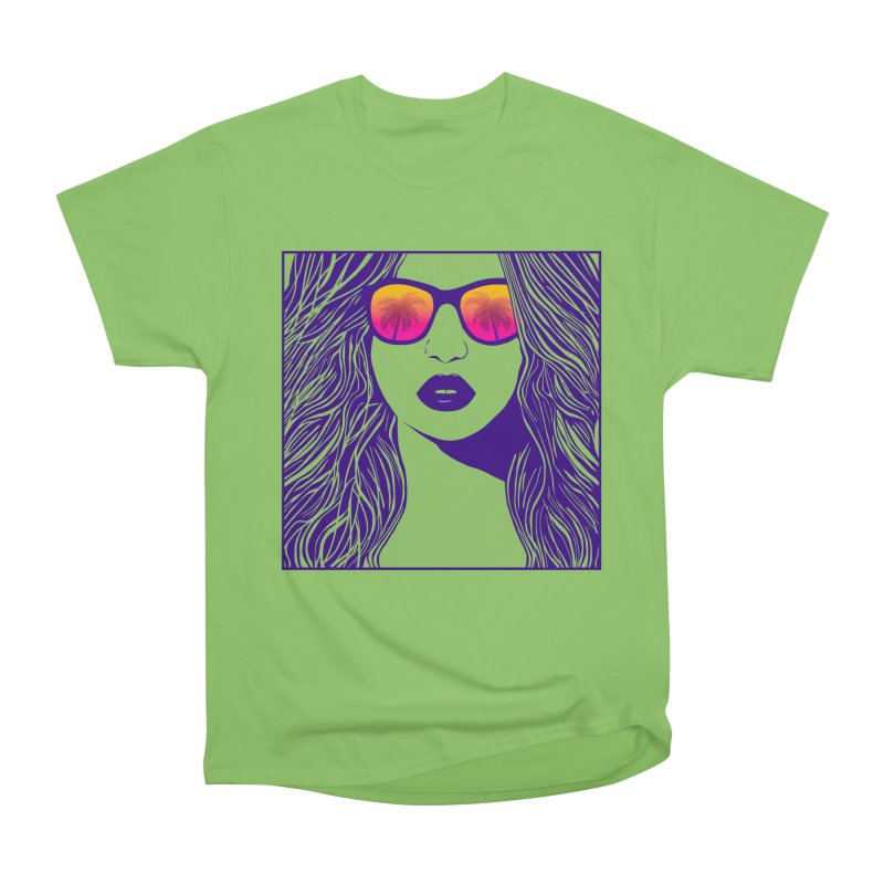 Summertime Women's Heavyweight Unisex T-Shirt by Glitchway Store