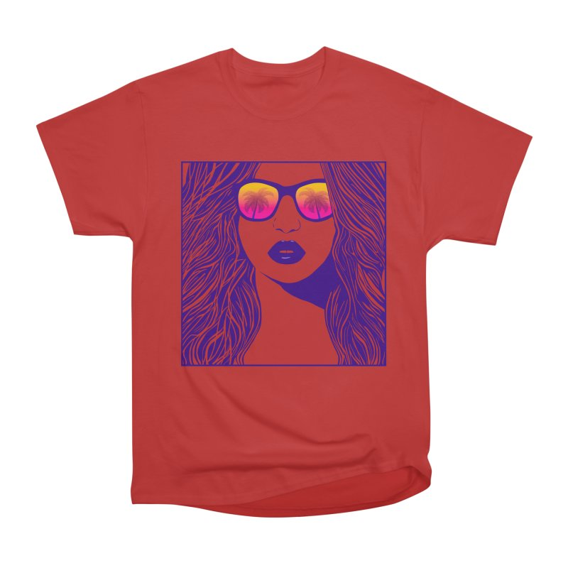 Summertime Women's Heavyweight Unisex T-Shirt by The Glitchway