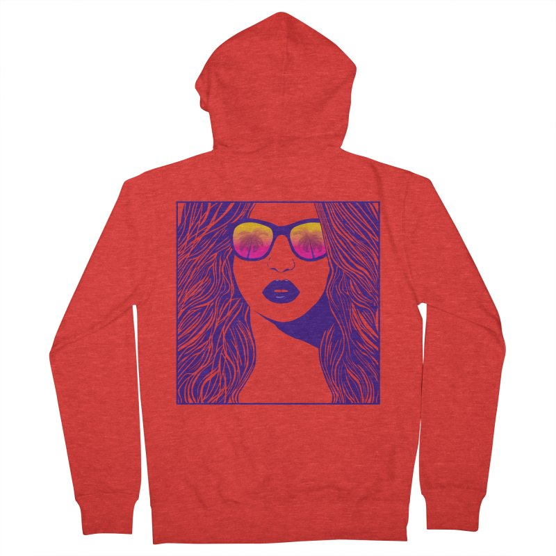 Summertime Women's Zip-Up Hoody by The Glitchway
