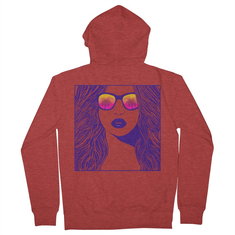 Summertime Women's French Terry Zip-Up Hoody by The Glitchway