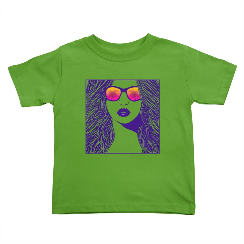 Summertime Kids Toddler T-Shirt by The Glitchway