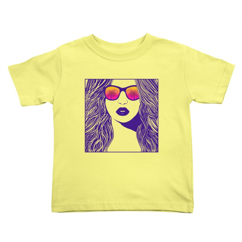Summertime Kids Toddler T-Shirt by Glitchway Store