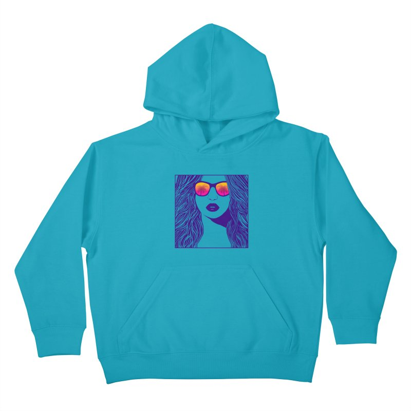 Summertime Kids Pullover Hoody by Glitchway Store
