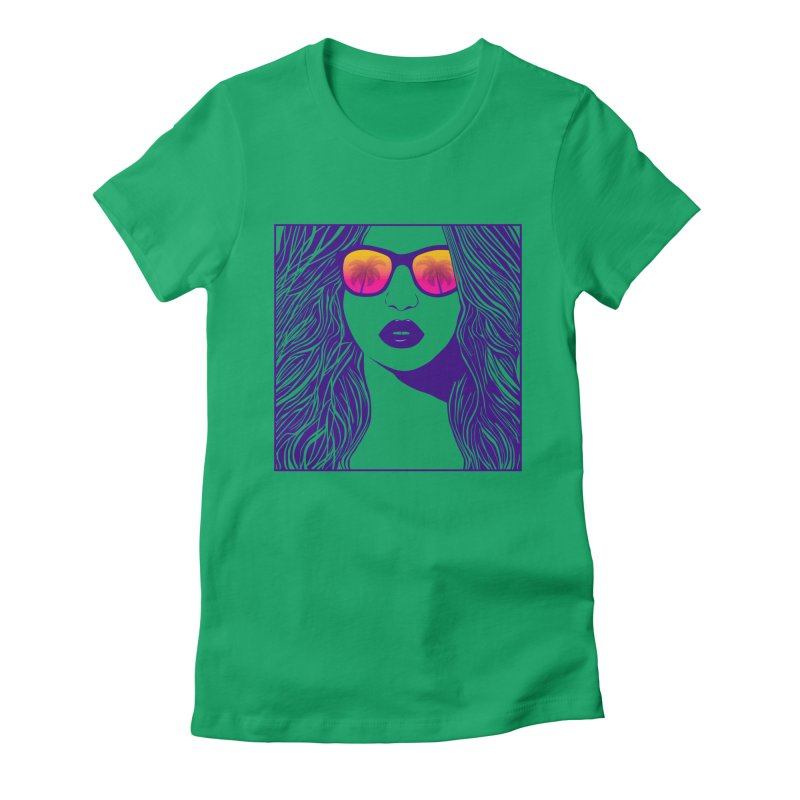 Summertime Women's Fitted T-Shirt by The Glitchway
