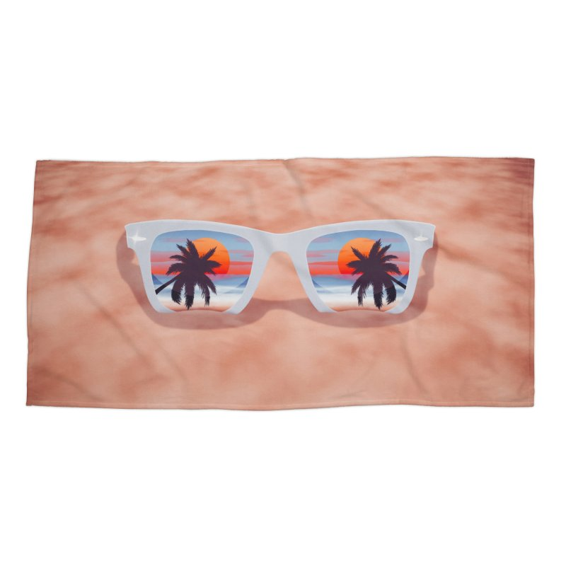 Tropical Accessories Beach Towel by Glitchway Store