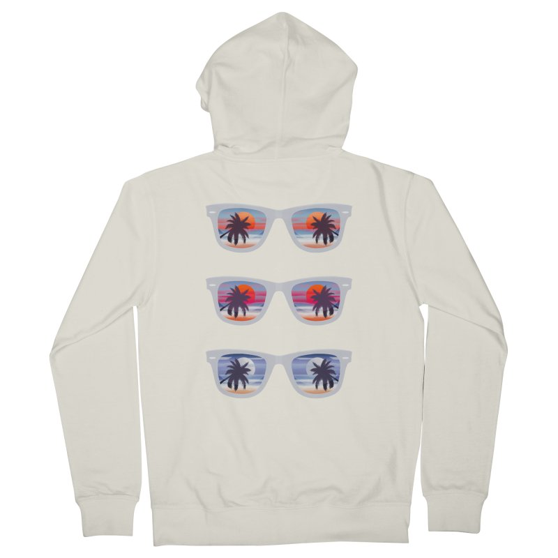 Tropical Women's French Terry Zip-Up Hoody by The Glitchway