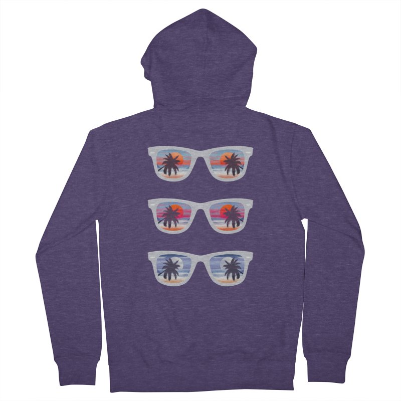 Tropical Men's French Terry Zip-Up Hoody by The Glitchway