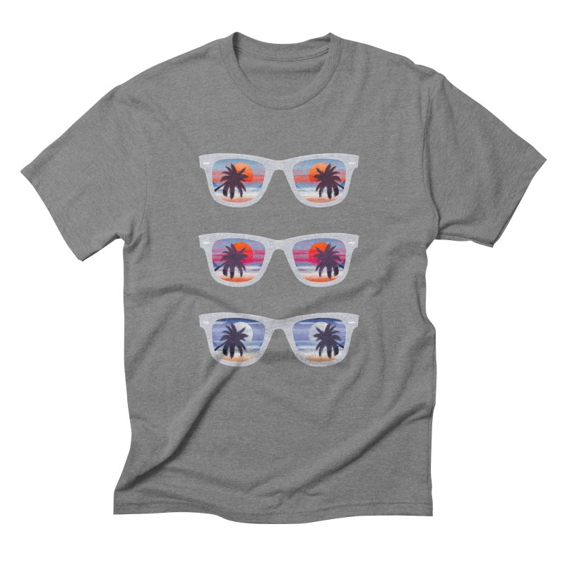 Tropical Men's Triblend T-Shirt by Glitchway Store