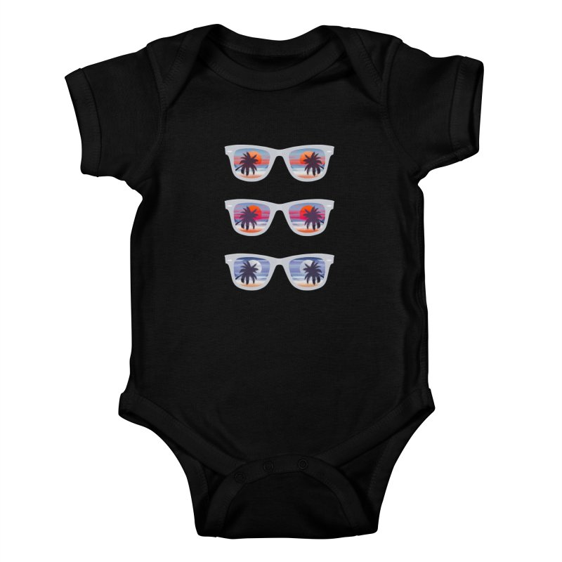 Tropical Kids Baby Bodysuit by Glitchway Store