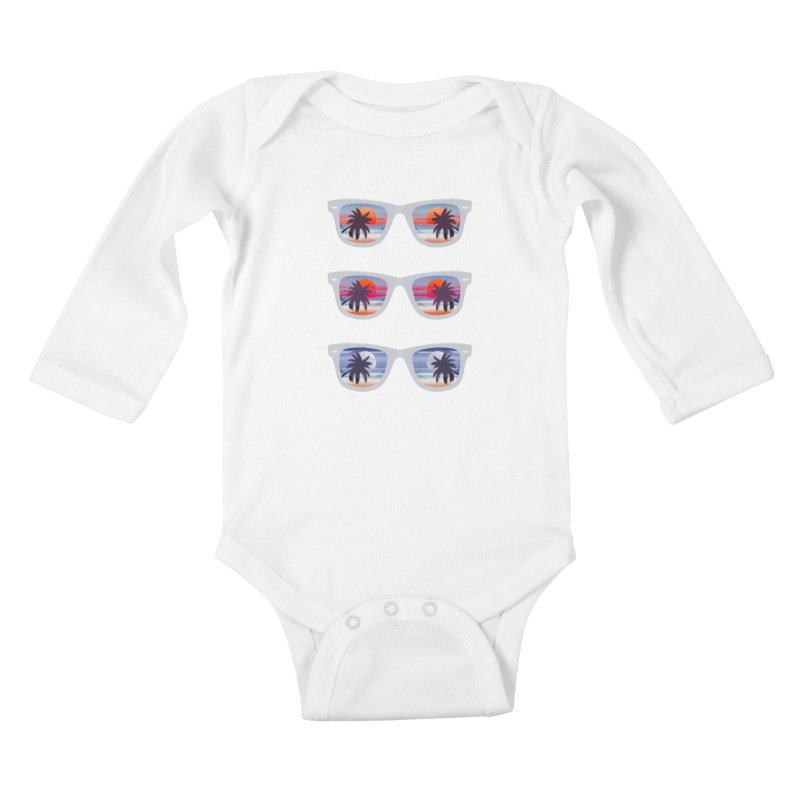 Tropical Kids Baby Longsleeve Bodysuit by The Glitchway