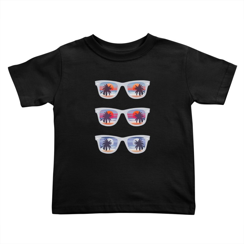 Tropical Kids Toddler T-Shirt by The Glitchway