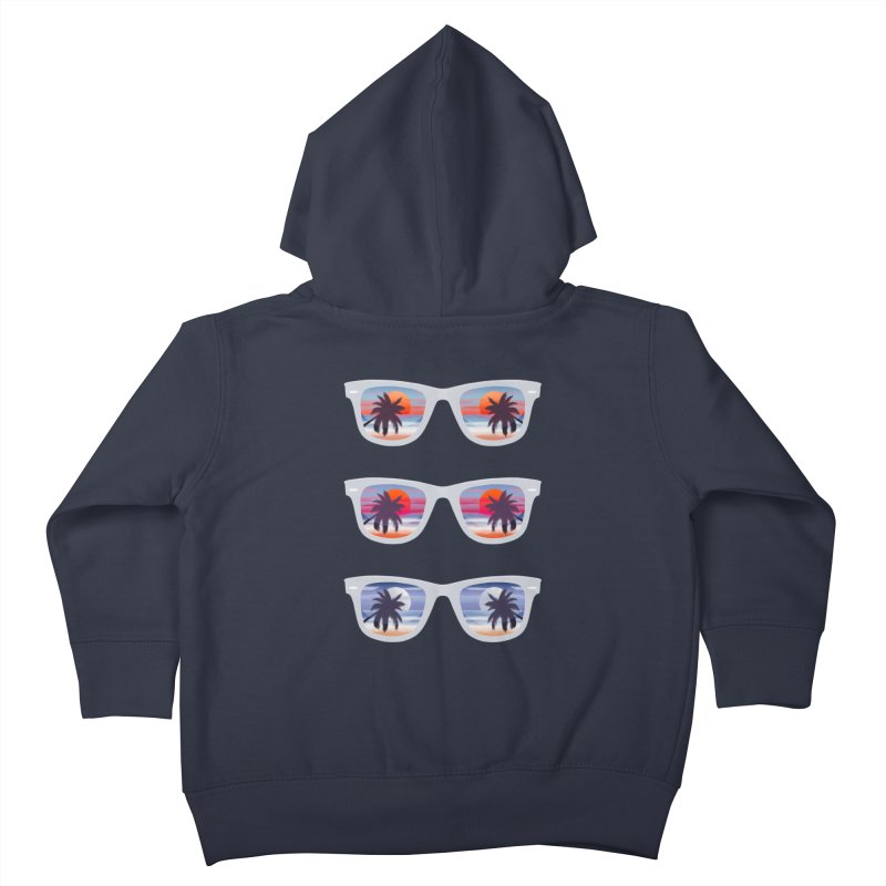 Tropical Kids Toddler Zip-Up Hoody by The Glitchway