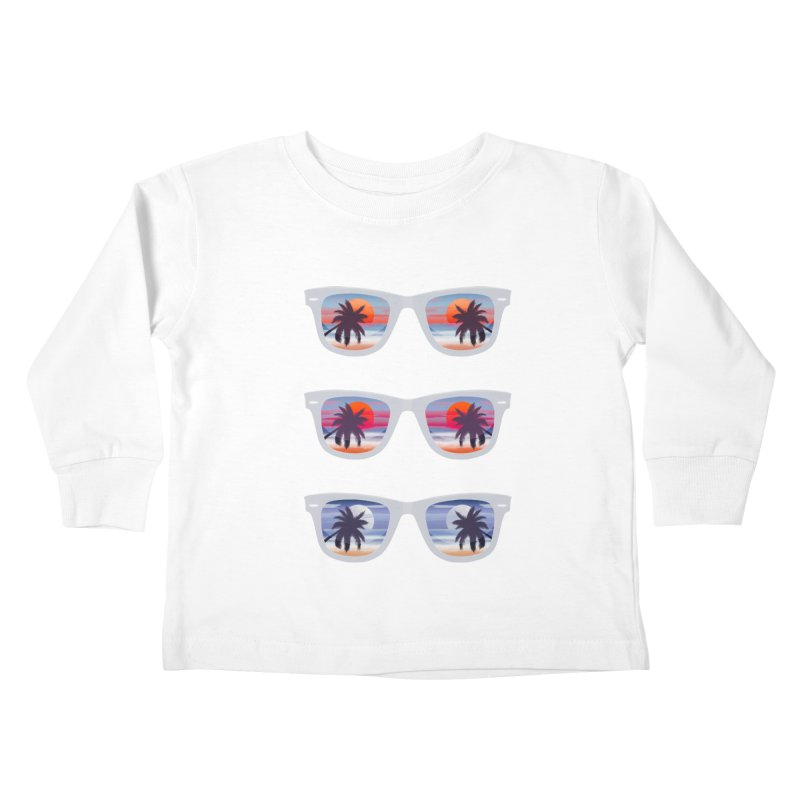 Tropical Kids Toddler Longsleeve T-Shirt by Glitchway Store