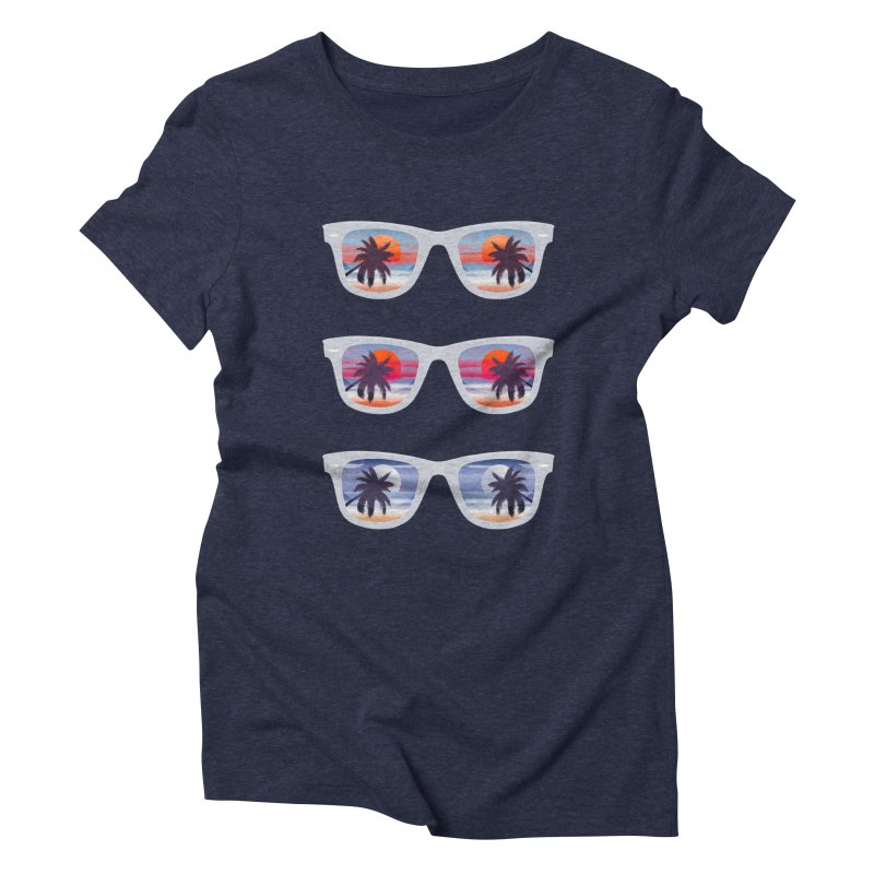Tropical Women's Triblend T-Shirt by The Glitchway