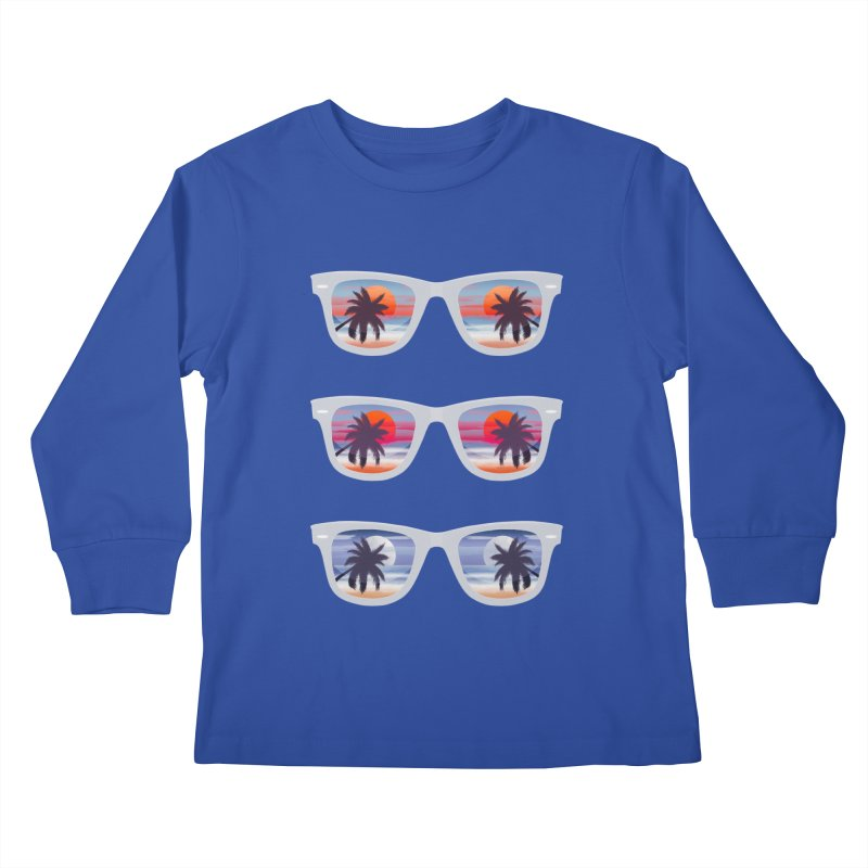 Tropical Kids Longsleeve T-Shirt by The Glitchway
