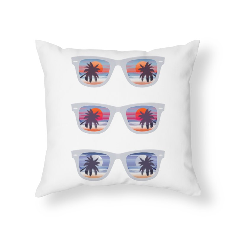 Tropical Home Throw Pillow by Glitchway Store