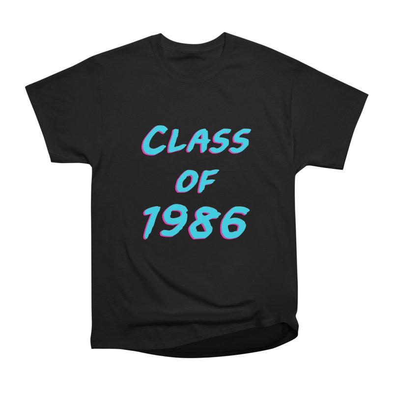 Class Of 1986: Font Men's Heavyweight T-Shirt by Glitchway Store