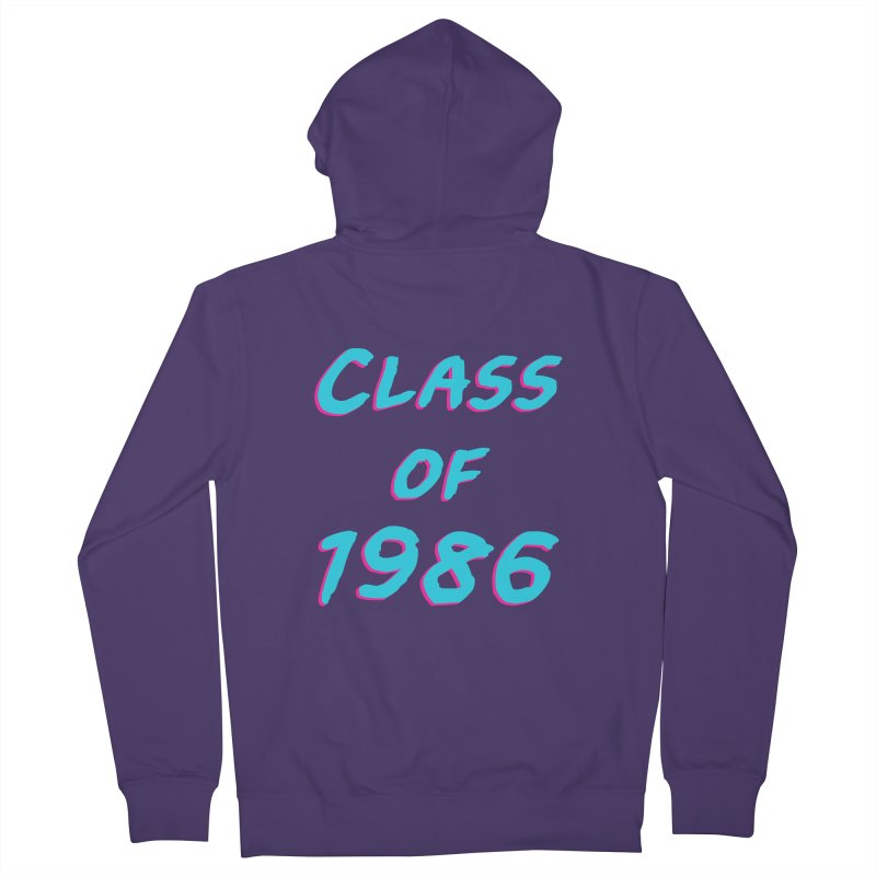 Class Of 1986: Font Women's Zip-Up Hoody by The Glitchway
