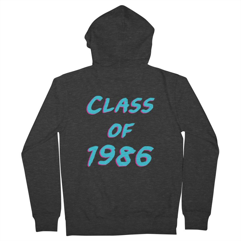 Class Of 1986: Font Men's French Terry Zip-Up Hoody by The Glitchway