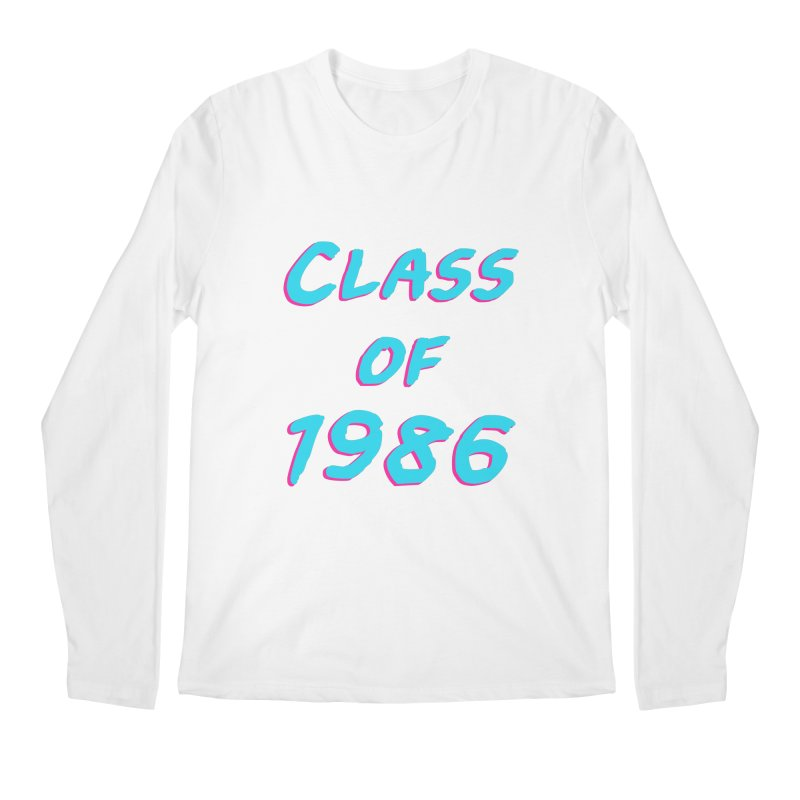 Class Of 1986: Font Men's Regular Longsleeve T-Shirt by The Glitchway