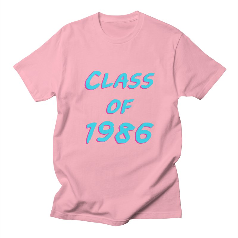 Class Of 1986: Font in Men's T-Shirt Light Pink by Glitchway Store