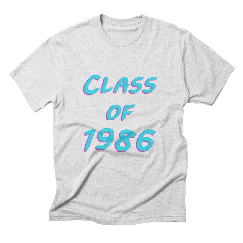 Class Of 1986: Font Men's Triblend T-Shirt by Glitchway Store