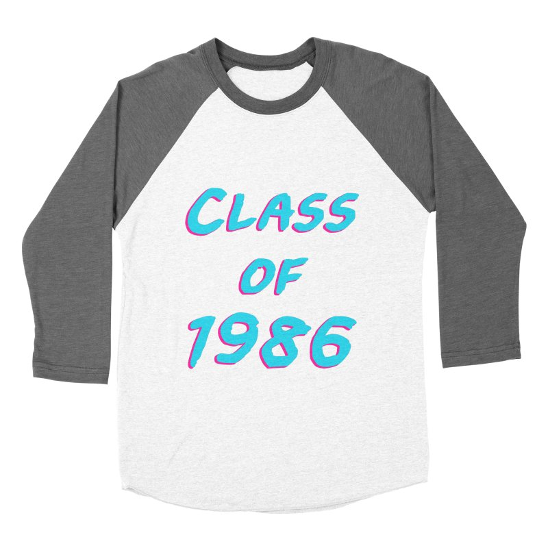 Class Of 1986: Font Women's Baseball Triblend Longsleeve T-Shirt by The Glitchway
