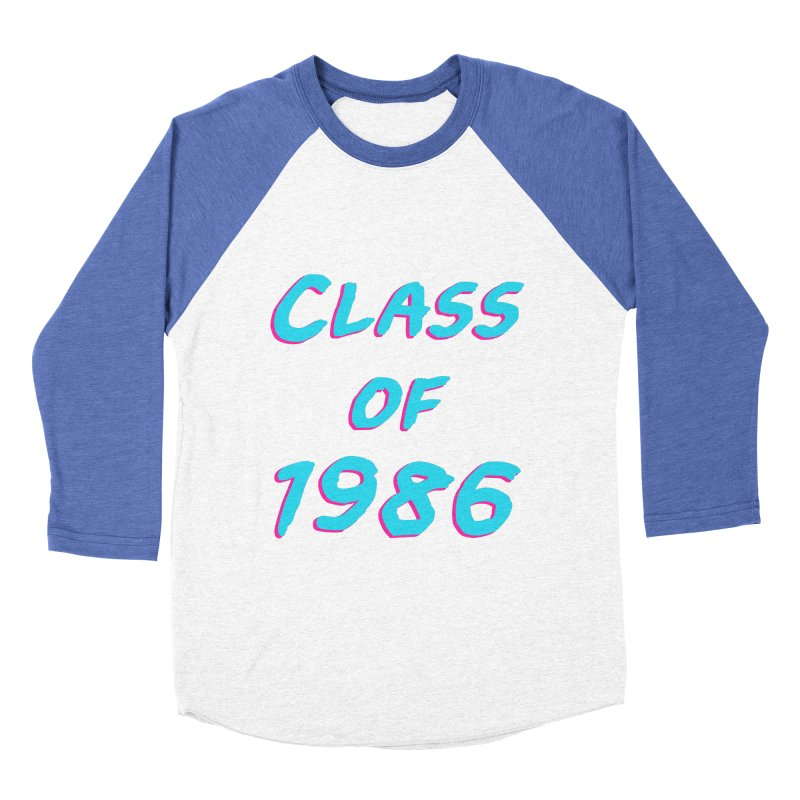 Class Of 1986: Font Men's Baseball Triblend Longsleeve T-Shirt by The Glitchway