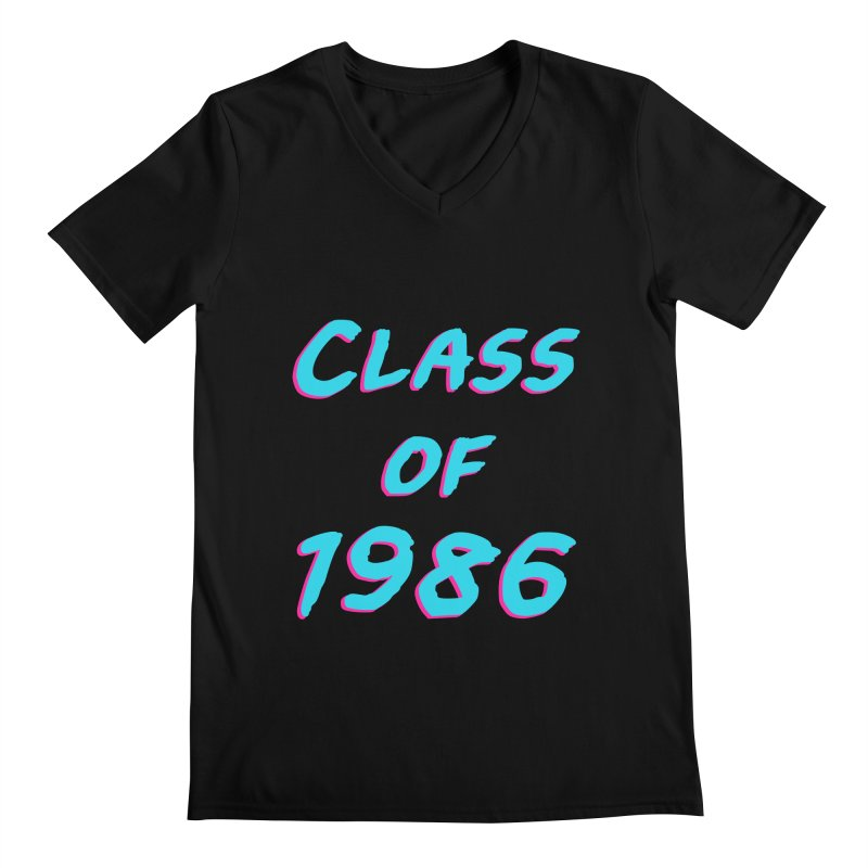 Class Of 1986: Font Men's V-Neck by Glitchway Store