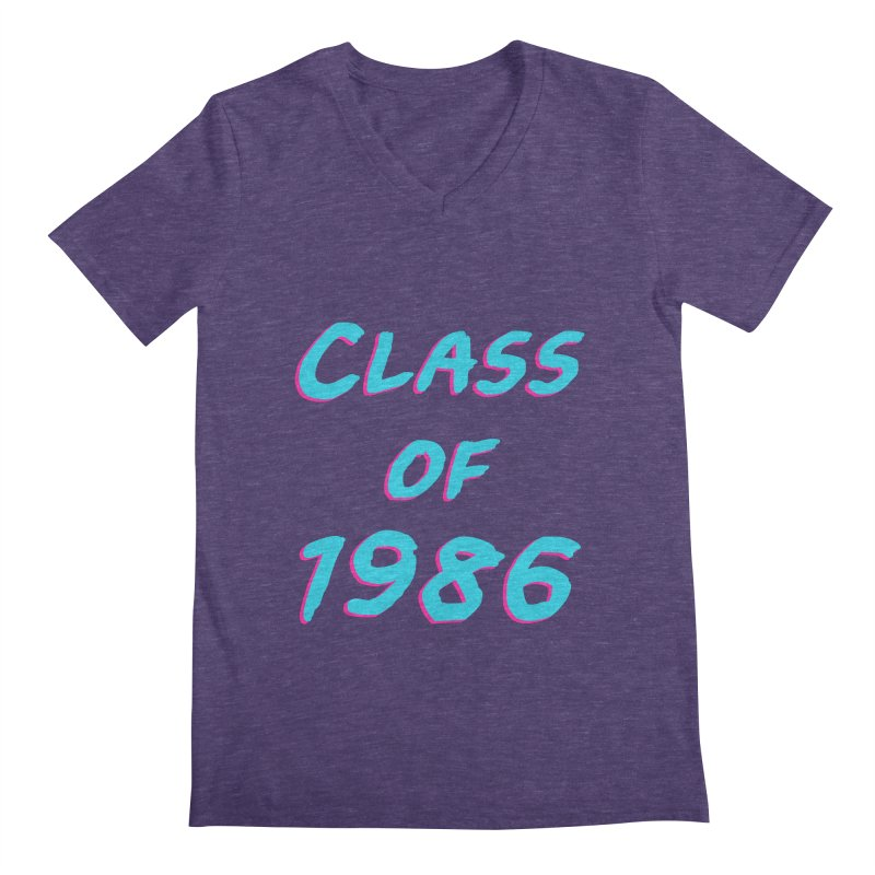 Class Of 1986: Font Men's Regular V-Neck by The Glitchway