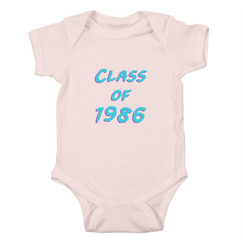 Class Of 1986: Font Kids Baby Bodysuit by Glitchway Store