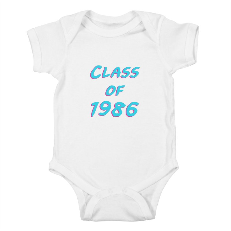 Class Of 1986: Font Kids Baby Bodysuit by The Glitchway
