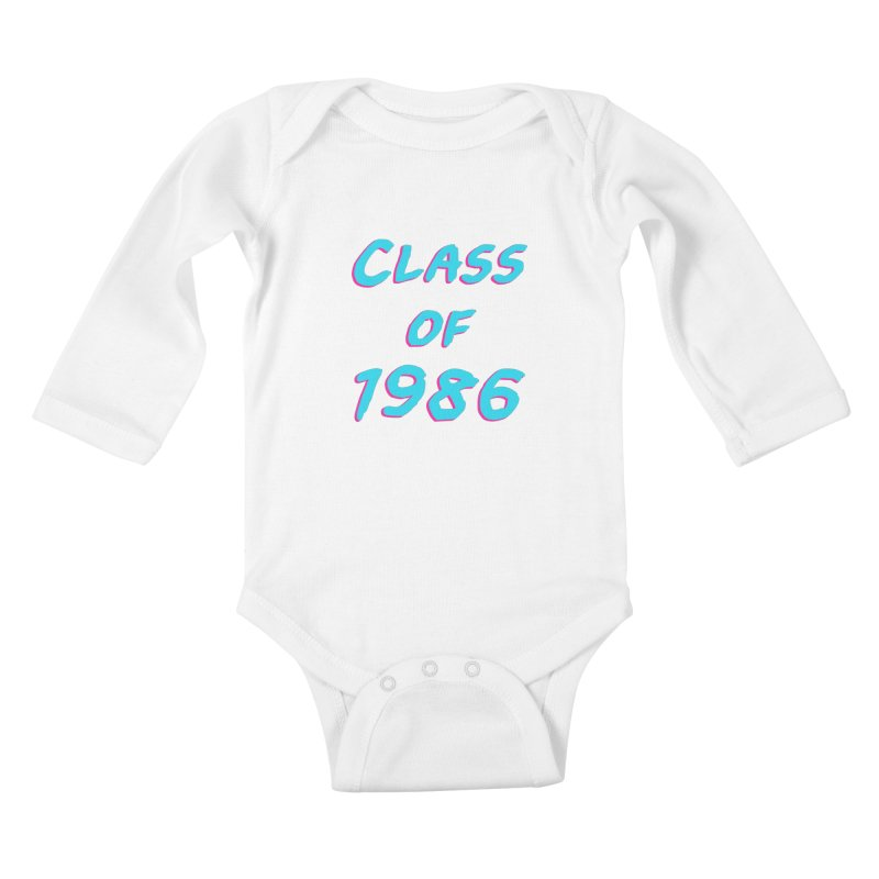 Class Of 1986: Font Kids Baby Longsleeve Bodysuit by Glitchway Store