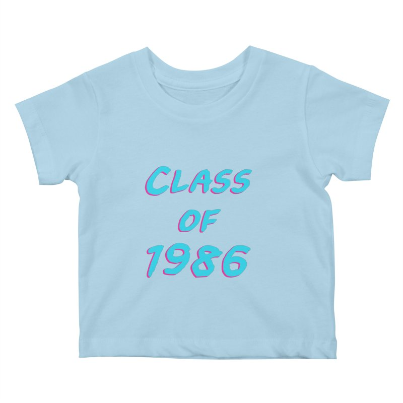Class Of 1986: Font Kids Baby T-Shirt by The Glitchway