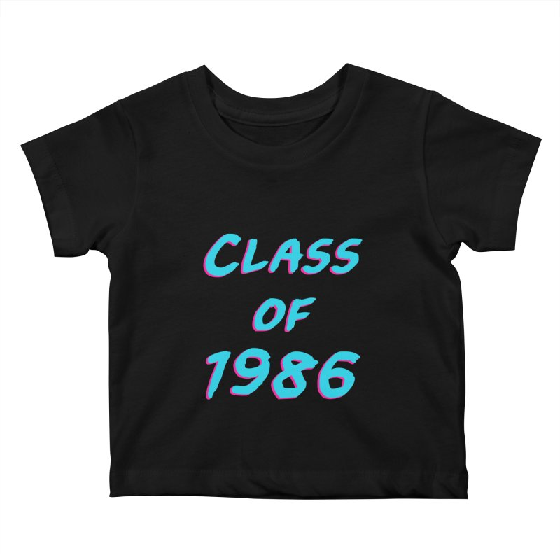 Class Of 1986: Font Kids Baby T-Shirt by Glitchway Store