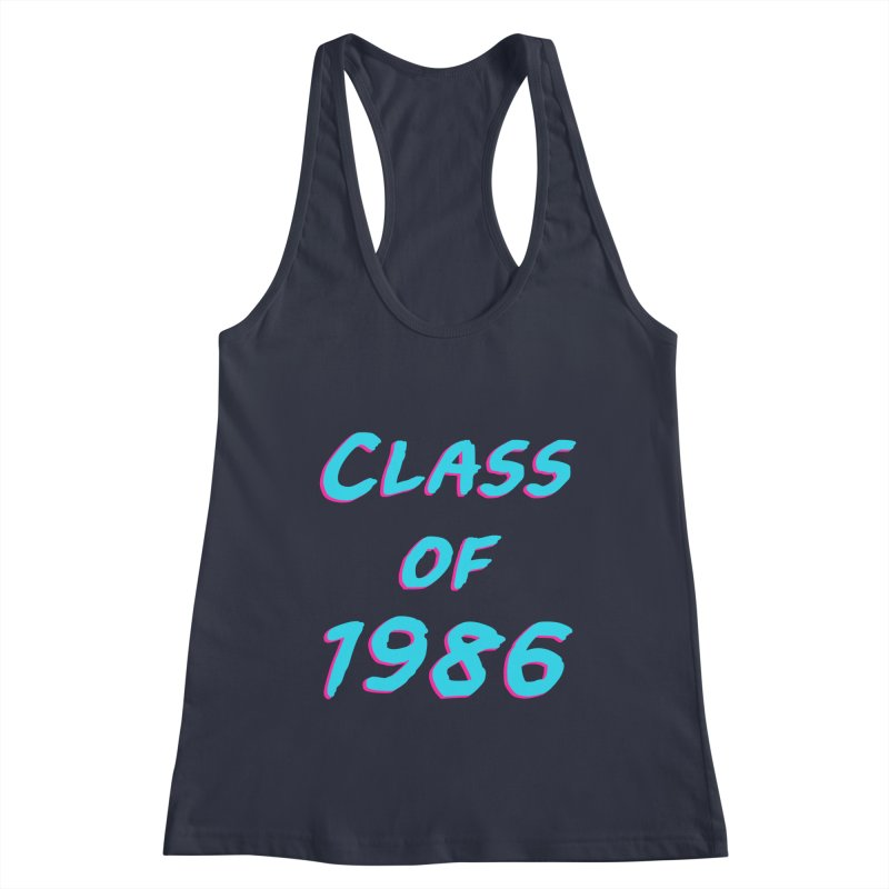 Class Of 1986: Font Women's Tank by The Glitchway