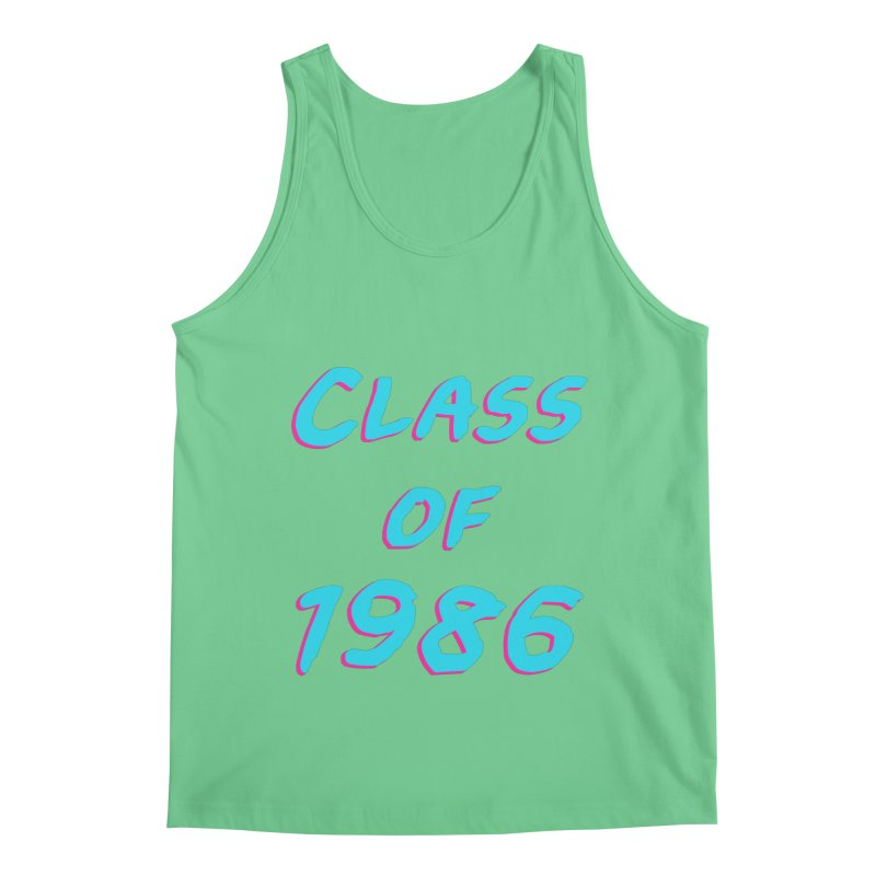 Class Of 1986: Font Men's Regular Tank by The Glitchway