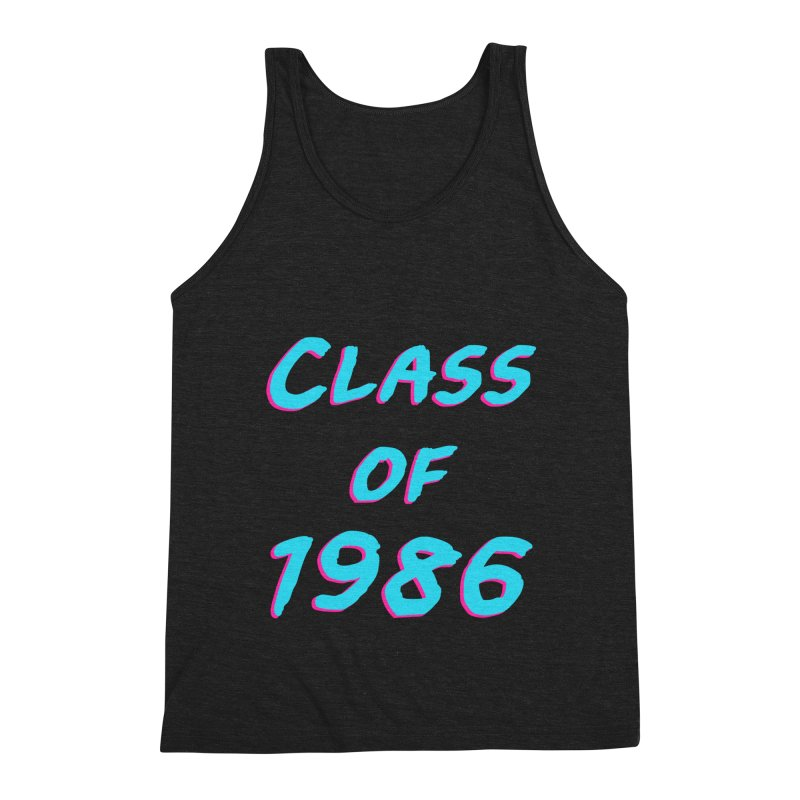 Class Of 1986: Font Men's Triblend Tank by The Glitchway