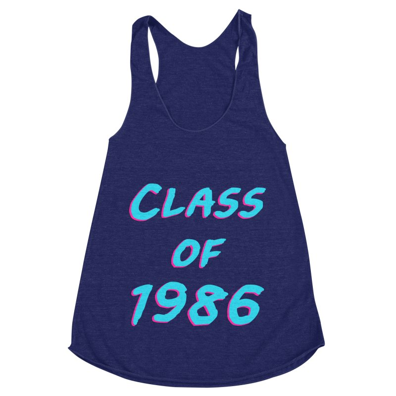 Class Of 1986: Font Women's Racerback Triblend Tank by The Glitchway